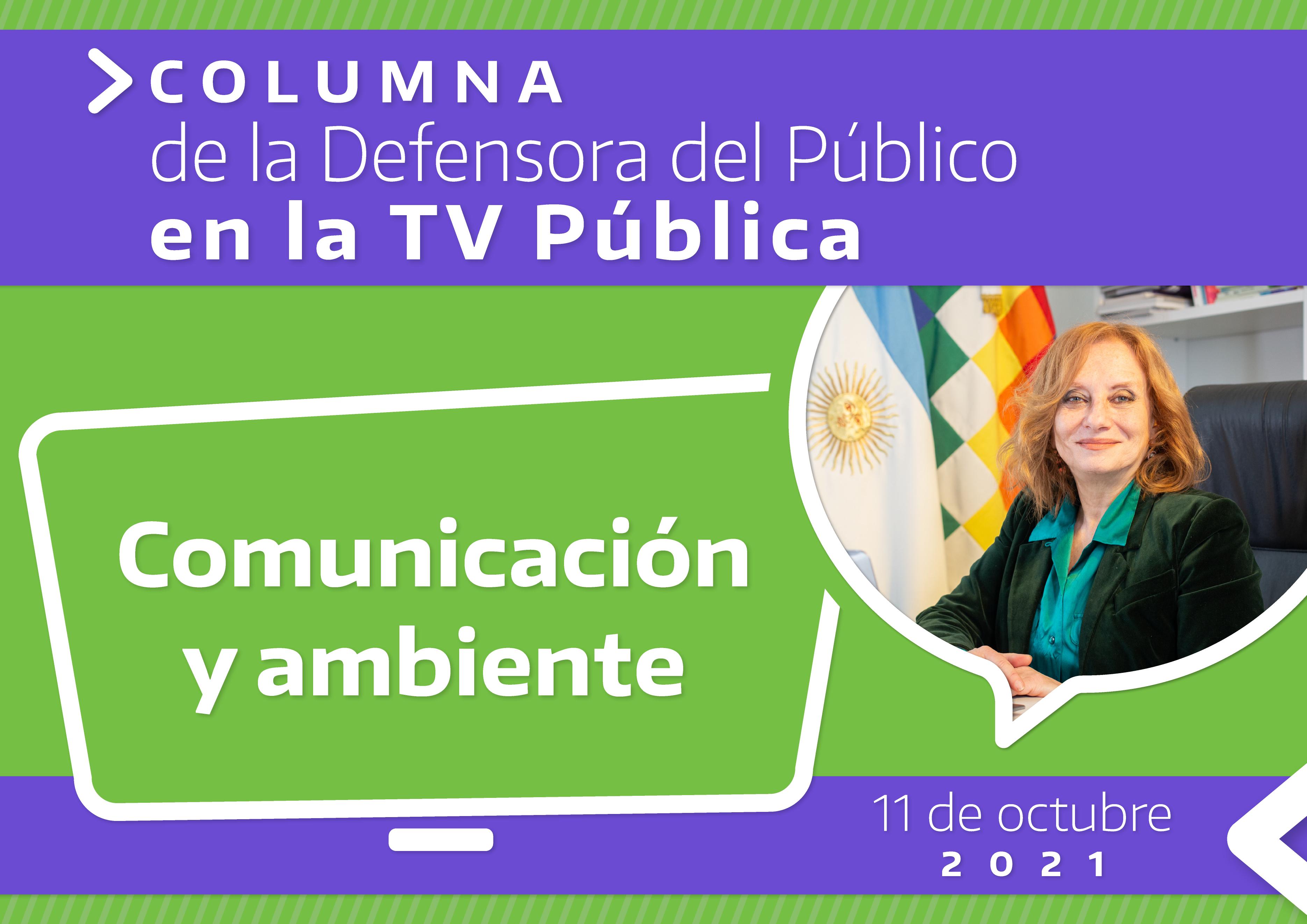 Comunicación y ambiente Columna TV